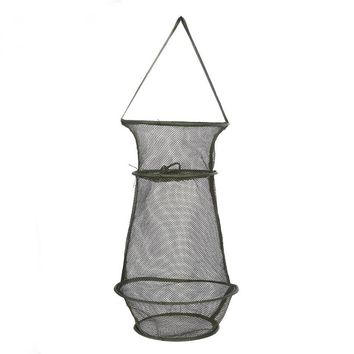 Shrimp Cage 3 Sections Layer Round Folding Fishing Net
