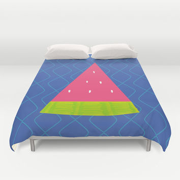 Watermelon Slice Duvet Cover by Ariel Lark