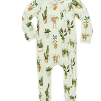 ORGANIC FOOTED ROMPER | POTTED PLANT | Multiple Sizes