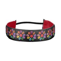Customizable Sugar Skulls Flowers Elastic Headbands