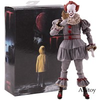 NECA Toys Stephen King's It the Clown Pennywise Figure PVC Horror Action Figures Collectible Model Toy