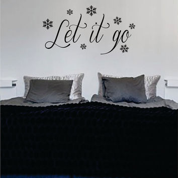 Let It Go Frozen Inspired Disney Quote Decal Sticker Wall Vinyl Decor Art