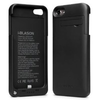 i-Blason Rechargeable Battery Slider Case with Apple 8-Pin Lightning Charging Connectors for iPod touch 5S, Black