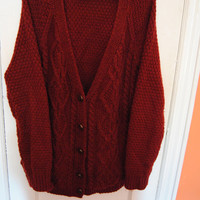 Burgundy Cardigan For Fall  (Urban Outfitters)
