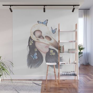Crow Wall Mural by drawingsbylam