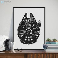 Black and White Millennium Battleship Pop Star Film Poster Prints Nordic Living Room Wall Art Picture Home Decor Canvas Painting