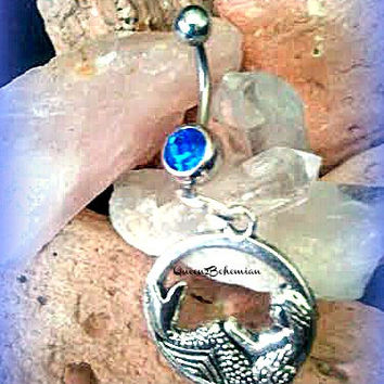 Mermaid Belly Ring,Siren Belly Ring,Bohemian,Gypsy,Sexy Belly,Fantasy Belly Ring,Beach Wear,Beach Belly Ring,Ready to Ship,Direct Checkout