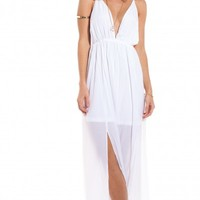 Great Gatsby maxi in white