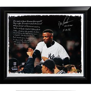 Doc Gooden Facsimile Yankees No-Hitter Story Stretched Framed 22x26 Story Canvas