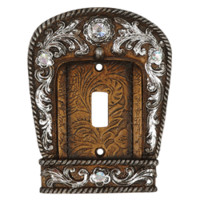 Tooled Leather Style Bling Switch Covers
