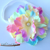 Elissa Baby Girl Headband Hair clip Flower Baby by littlelambshop