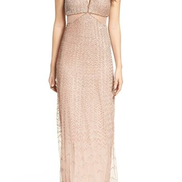 Adrianna Papell Embellished Cutout Gown   Nordstrom