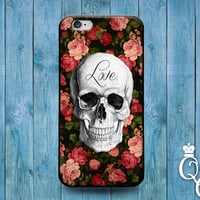 iPhone 4 4s 5 5s 5c 6 6s plus + iPod Touch 4th 5th 6th Generation Cute Custom Love Skull Floral Roses Flower Cover Cool Artistic Phone Case