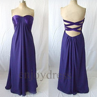 Custom Purple Long Prom Dresses Bridesmaid Dresses 2014 Wedding Party Dresses Fashion Party Dress Evening Gowns Evening Dresses Formal Wear