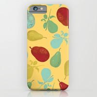 pears - yellow iPhone & iPod Case by Her Art