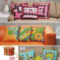 Jelly Roll Friendly Patchwork Throw Pillow Patterns Simplicity 1788