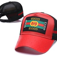 GUCCI Red Stylish Golf Baseball Cap Hat