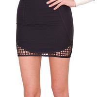 Catch Me Mini Skirt - Black