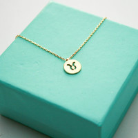 Dainty Circle Coin 12 Constellation Taurus Necklace