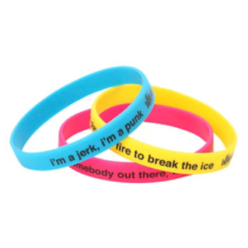 Blink-182 Lyrics Rubber Bracelet 3 Pack