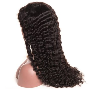 Brazilian Deep Wave Pre Plucked Lace Front Human Hair