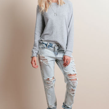 Break The Rules Distressed Jeans