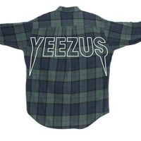 YEEZUS Kanye West Concert Flannel Shirt | Life of Pablo Inspired | Yeezy Fan Gift, 'Ye