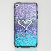 glitter heart- photograph of glitter  iPhone & iPod Skin by Sylvia Cook Photography | Society6