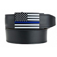 USA Belt Series Adjustable Leather and Nylon Ratchet Belts and Automatic Buckles for Men - Nexbelt Ratchet System Technology