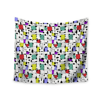 """Julia Grifol """"My Happy Squares"""" Wall Tapestry"""