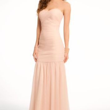 Strapless Ruched Tulle Dress