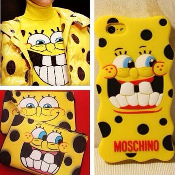 MOSCHINO SpongeBob SquarePants iPhone5/5S Case Cover
