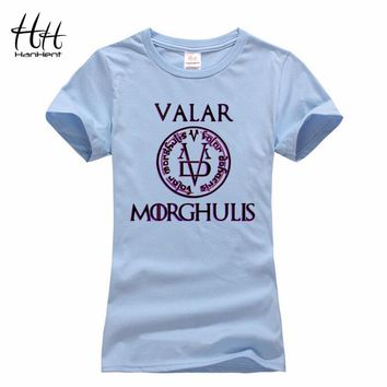 Valar Morghulis Game Of Thrones T Shirt Letter Printed Women's Fashion T-shirts