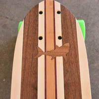"22 inch  Mini Penny kicktail Skateboard ""Honolua Bay"" with shark inlay, complete"