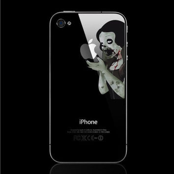 Zombie Snow white Apple Iphone decal Iphone sticker by Livenshop