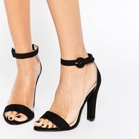 London Rebel Barely There Heeled Sandals