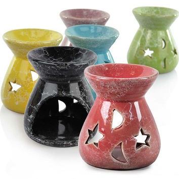 Home Porcelain Incense Burner Candles And Essential Oil Burner Fragrance Home Furnishing Decoration Air Clean (Random Color )