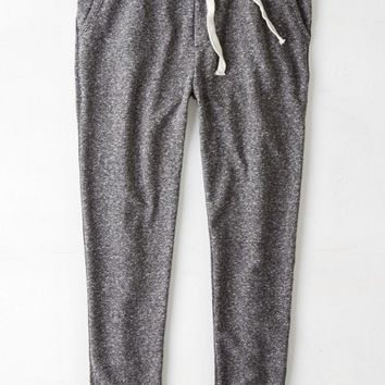 AEO Men's Colorblock Fleece Jogger Pant (Charcoal Heather)