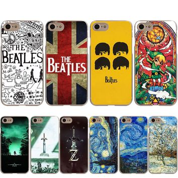 The Beatles The Legend Of Zelda Van Gogh Case for iPhone X 8 7 6S 6 Plus 5S SE 5
