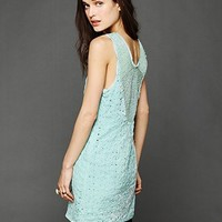 Free People Danced To Pieces Mini Dress