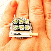 Kappa Maki Cucumber Sushi Rolls Miniature Food Ring