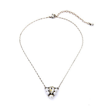 Pearl with Crystal Tear Necklace
