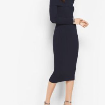 Knit Off-The-Shoulder Dress | Michael Kors