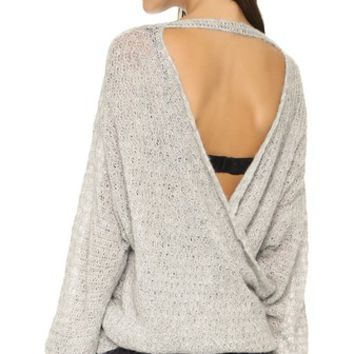 Brandywine Drape Back Sweater