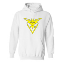 Pokemon Go Pokemon series plus velvet hooded sweater Yellow pattern