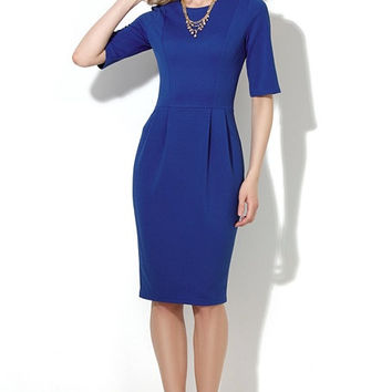 Blue sheath dress, Tulip dress, Bodycon dress, sexy casual dress, pencil dress, cocktail sexy dress, short sleeve, long sleeve, work dress
