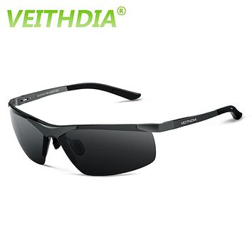 VEITHDIA Aluminum Magnesium 2017 New Men Brand Designer Driving Polarized Sunglasses Glasses Sun Goggles Eyeglasses Color Film