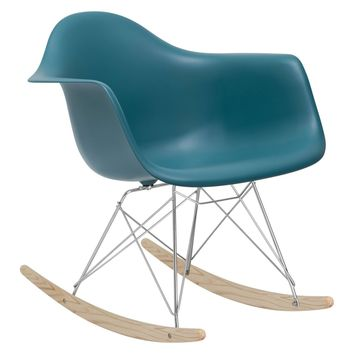 Rocker Lounge Chair in Teal
