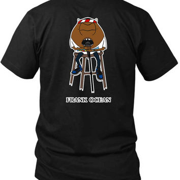 Frank Ocean In Funny Cartoon 2 Sided Black Mens T Shirt