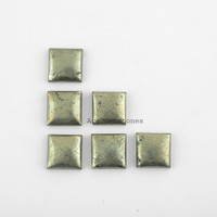 Pyrite Square Cabochons, High Quality Loose Pyrite Gemstone -15mm Square  4 Pcs.